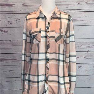 Fashion Nova Plaid Shirt Size Medium